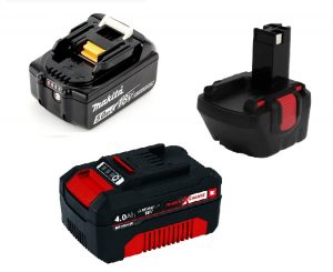 Baterías atornilladores